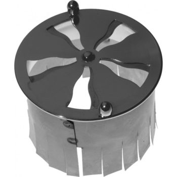 Spiralventil i nickel, med stos