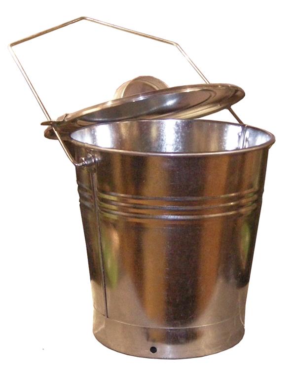 Askhink med lock (zink) med luftad sockel Josef Davidssons Eftr