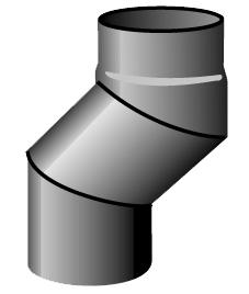 S-böj ø125mm