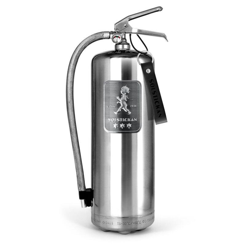 Solstickan brandsläckare 6 kg Steel edition
