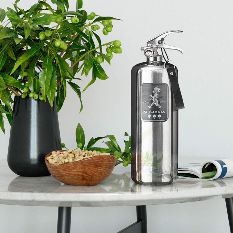 solstickan brandsläckare 2 kg design edition steel
